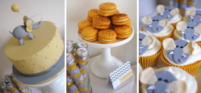 Cake and Macaron Collage