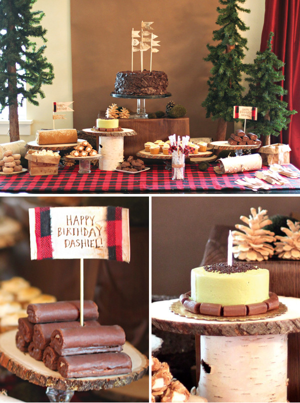 woodsy-lumberjack-dessert-table